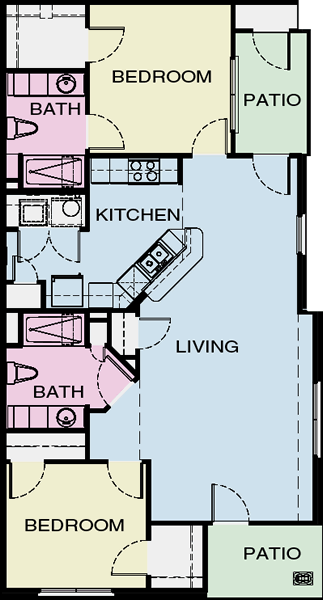 B2 - Two Bedroom / Two Bath*